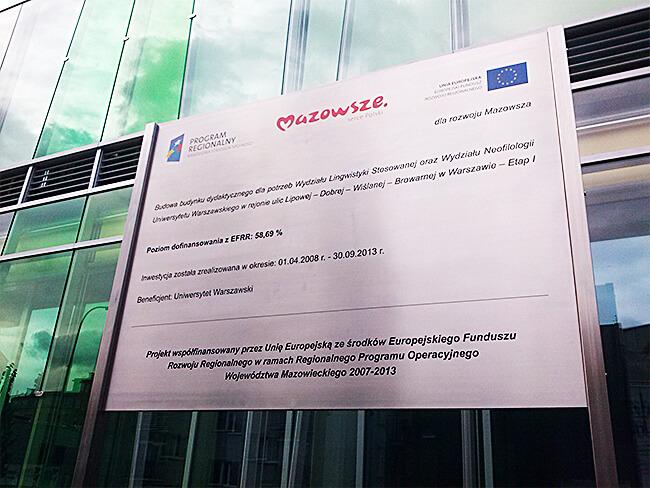 Tablice unijne - producent artforma