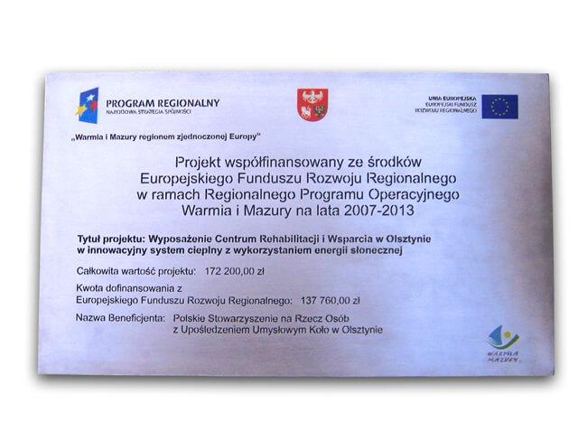 Tablice unijne wymiary, wytyczne- artforma